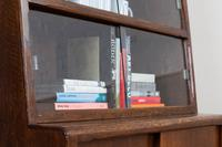 1930s Vintage Oak Glazed Bookcase Cabinet (10 of 16)