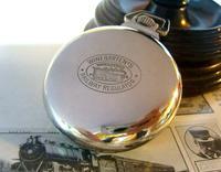 Antique Pocket Watch 1920s Winegartens 7 Jewel Railway Regulator Silver Nickel Case FWO (6 of 12)