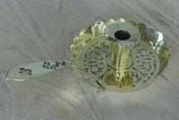Quality Victorian Gothic Revival Good Night Brass Chamberstick Candlestick 1880 (3 of 7)