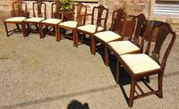 Set of 8 Hepplewhite Style Mahogany Dining Chairs (3 of 12)