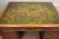 Antique Oak Partners Writing Desk (5 of 10)