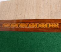 Rosewood Games Table Chess Board Folding Card Table 19th Century (7 of 16)