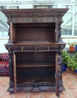 Country Oak Carved Cupboard Depicting Tavern Scenes 1800 (10 of 15)