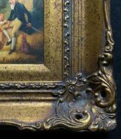 Lovely 18th Century Georgian Revival Gilt-Framed Oil on Panel Portrait Painting (6 of 8)