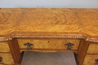 Antique Serpentine Shaped Burr Walnut Side Table (13 of 13)