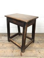 Antique 18th Century Oak Stool (2 of 10)