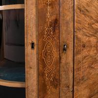 Antique Credenza, English, Burr Walnut, Sideboard, Display Cabinet, Regency (11 of 12)