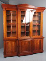 Antique George IV Mahogany Breakfront Library Bookcase (3 of 14)