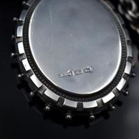 Antique Aesthetic Large Sterling Silver Locket with Belcher Chain Collar (9 of 11)