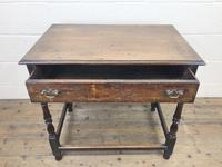 18th Century Oak Side Table with Drawer (4 of 9)