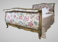 French Roll End Style Double Bed Frame With Matching Armchairs & Side Table (3 of 17)