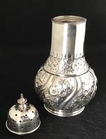 Victorian Repousse Silver Plated Sugar Shaker (3 of 5)