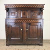 17th Century Welsh Oak Cwpwrdd Deuddarn