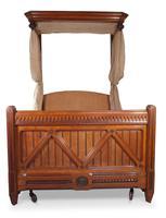 Oak Half Tester Bed (10 of 19)