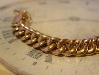 Antique Pocket Watch Chain 1890s French Victorian 14ct Rose Gold Filled Albert (6 of 12)