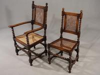 Attractive Set of 6 Early 20th Century Jacobean Style Chairs in Oak (5 of 6)