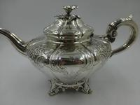 Antique Victorian Silver Teapot  London 1844 Barnard Brothers (6 of 10)