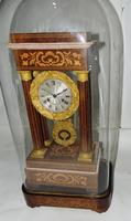 French Rosewwod Portico Clock Complete with Dome & Stand (2 of 9)