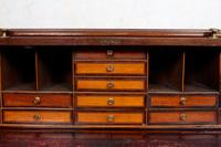 Cylinder Bureau Georgian Writing Desk Chest (4 of 12)