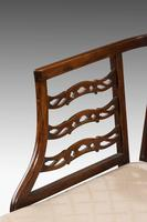 Late 19th Century Mahogany Frame Elbow Chair (4 of 5)