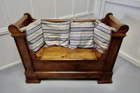 French Walnut and Cherry Empire Style Window Seat (5 of 8)