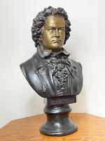Classical Music Interest German Bronze Composer Ludwig Van Beethoven Bust Sculpture (2 of 25)