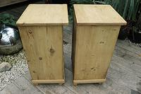 Fab! Two Matching 'will split' Old Pine Bedside Cabinets - We Deliver! (6 of 8)