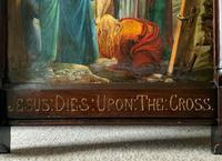 Superb 19th Century Old Master Biblical Christ Oil Portrait Painting - Gothic Oak Frame (13 of 17)