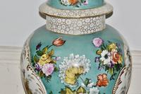 Stunning Very Large Late 19th Century Helena Wolfsohn Dresden Vase + Cover (9 of 11)