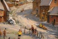 """Oil Painting by Max Hofler """"The Frozen Pond"""" (5 of 6)"""