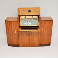 Art Deco Burr Walnut Cocktail Cabinet / Sideboard by Epstein (3 of 12)