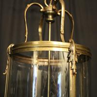 French Large Brass Four Light Antique Lantern (6 of 10)