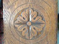 Victorian Oak Bench (3 of 3)