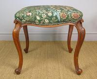 Good Early Victorian Mahogany Cabriole Stool (2 of 7)