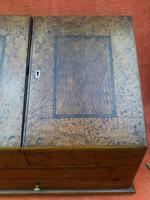 Antique Victorian Letter Sorter Writing Box Burl Walnut Veneer C1880s (11 of 12)