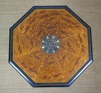 Outstanding Aesthetic Ebonised Birds Eye Maple & Gilt Bronze Table (5 of 10)
