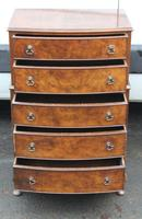 1960s Small Mahogany Bow Chest 5 Drawers (4 of 4)