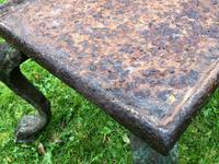French 18th Century Georgian Grand Tour Garden Cast Iron Plinth Table Claw Feet (17 of 33)