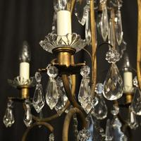 French Gilded Crystal Birdcage 5 Light Antique Chandelier (5 of 10)