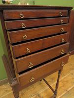 Antique Victorian Collectors Chest Cabinet on Stand, Lockable (17 of 17)