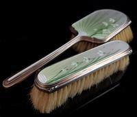 Vintage Art Deco Silver & Enamel Brush Set (10 of 12)