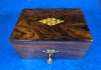 Victorian Rosewood Jewellery Box with Mother of Pearl & Abalone Escutcheons (5 of 14)