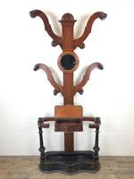 Antique Victorian Mahogany Tree Shaped Hall Stand (2 of 10)