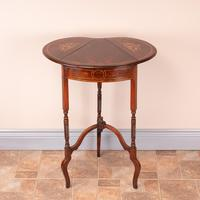 Edwardian Inlaid Rosewood Drop Leaf Occasional Table (11 of 23)