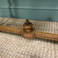 French Walnut Caned Long Antique Stool c.1900 (5 of 6)