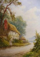 Watercolour Mill Cottage Reigate Listed Artist H Rawson (2 of 13)