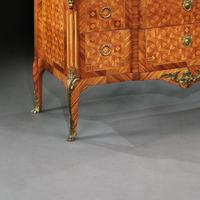 Late 19th Century French Gilt Bronze Mounted Tulipwood & Kingwood Marble Topped Commode (5 of 10)