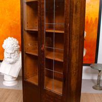 Art Deco Oak Glazed Bookcase (9 of 11)