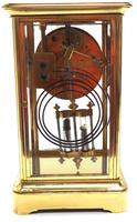 Fine  Antique French Table Regulator with Compensating Pendulum 8 Day 4 Glass Mantel Clock (8 of 11)