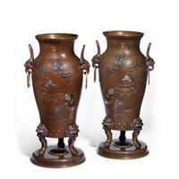 Pair of Large Meiji Period Bronze Vases (4 of 9)